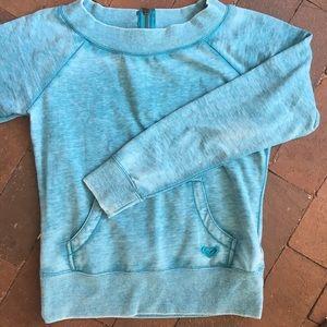 Roxy size M sweatshirt with back zipper
